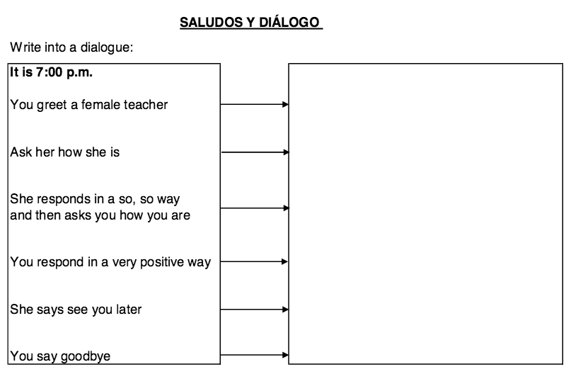 Elementary Spanish Resources – Elementary Worksheets