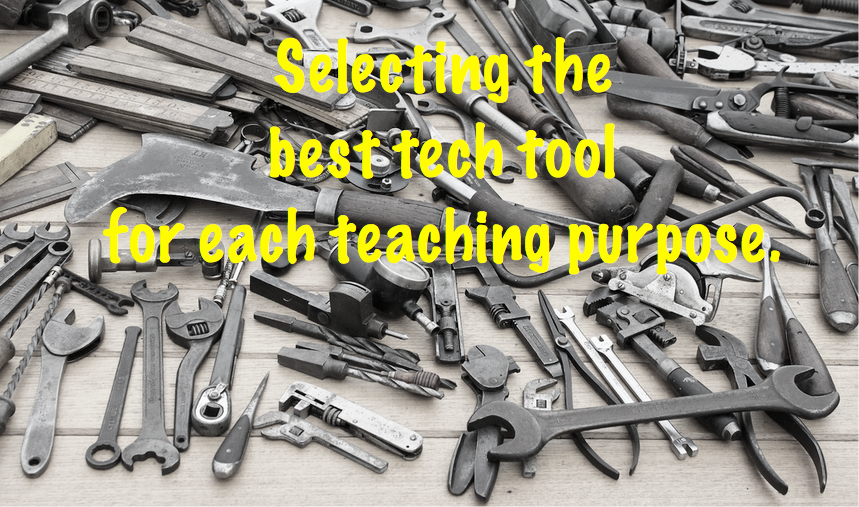 Tech tool for teaching purpose
