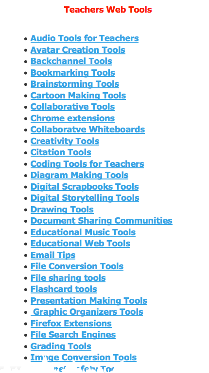 search for tech tool in education blog